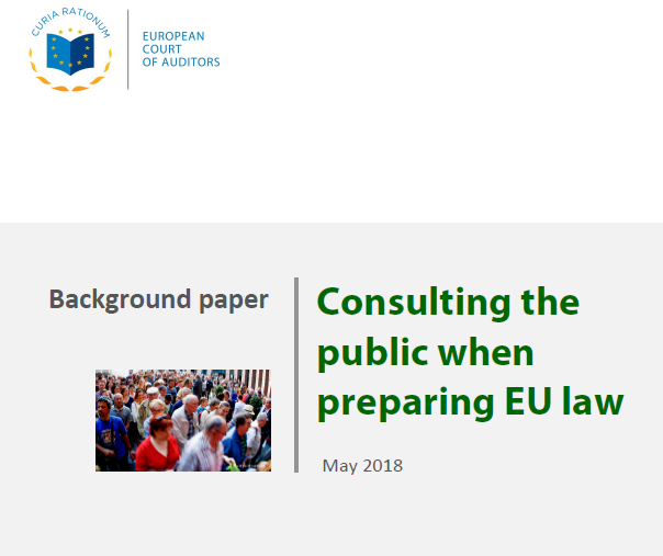 Background paper: Consulting the public when preparing EU law