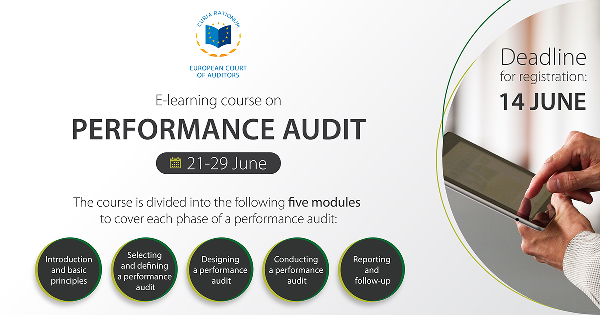 ECA e-course on performance audit now available to public: register by 14 June
