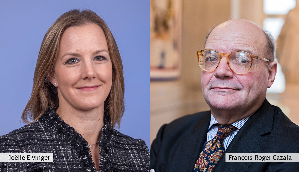 New ECA Members Joëlle Elvinger (Luxembourg) and François-Roger Cazala (France) take office