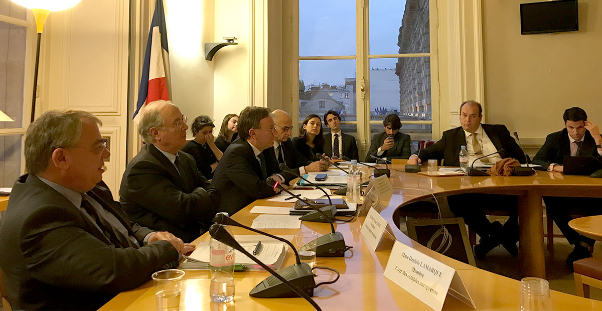 ECA President and French Member in Paris to discuss strategy and work programme in view of future EU budgets