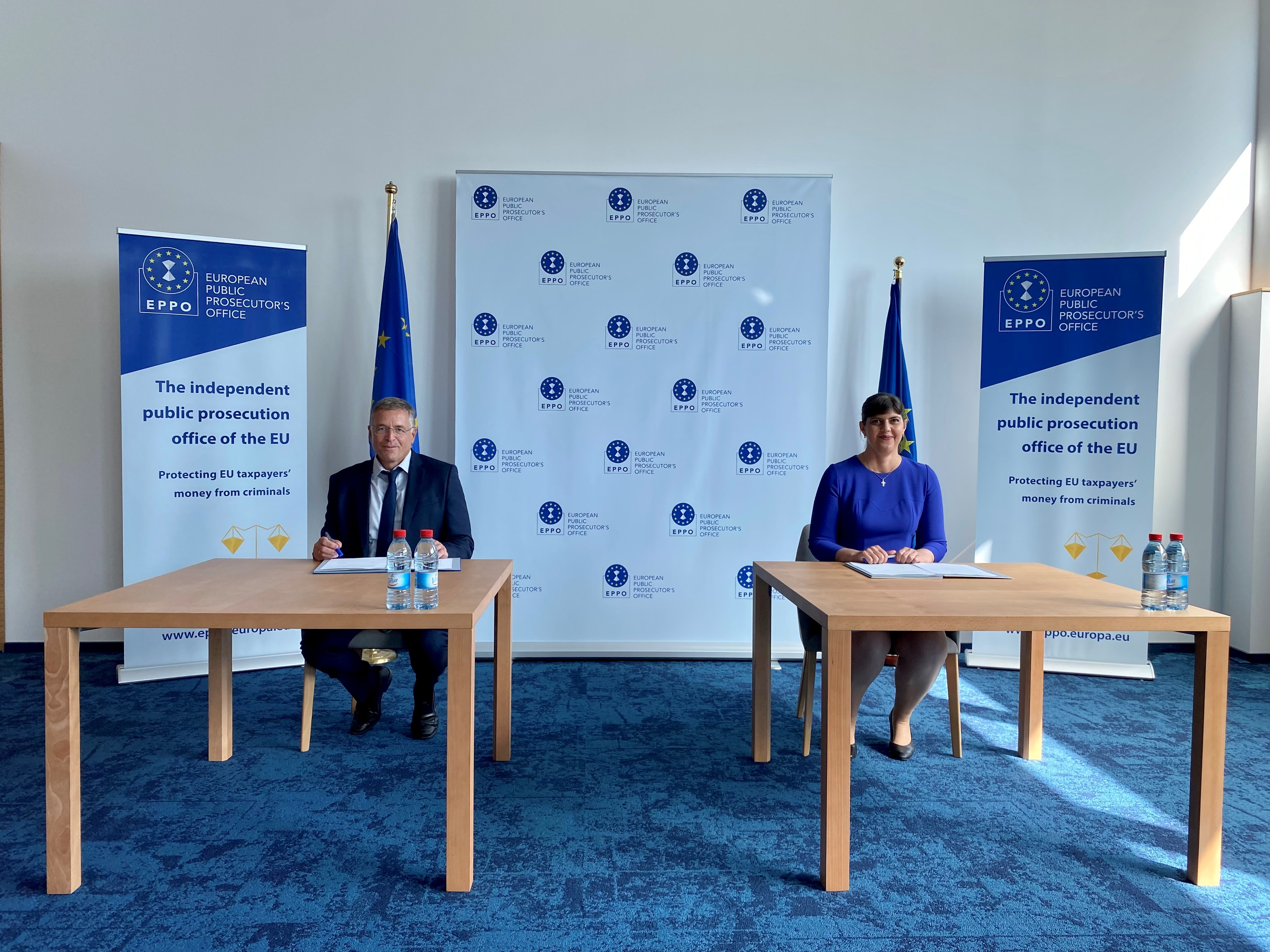 Signature of a working arrangement between the ECA and the European Public Prosecutor's Office