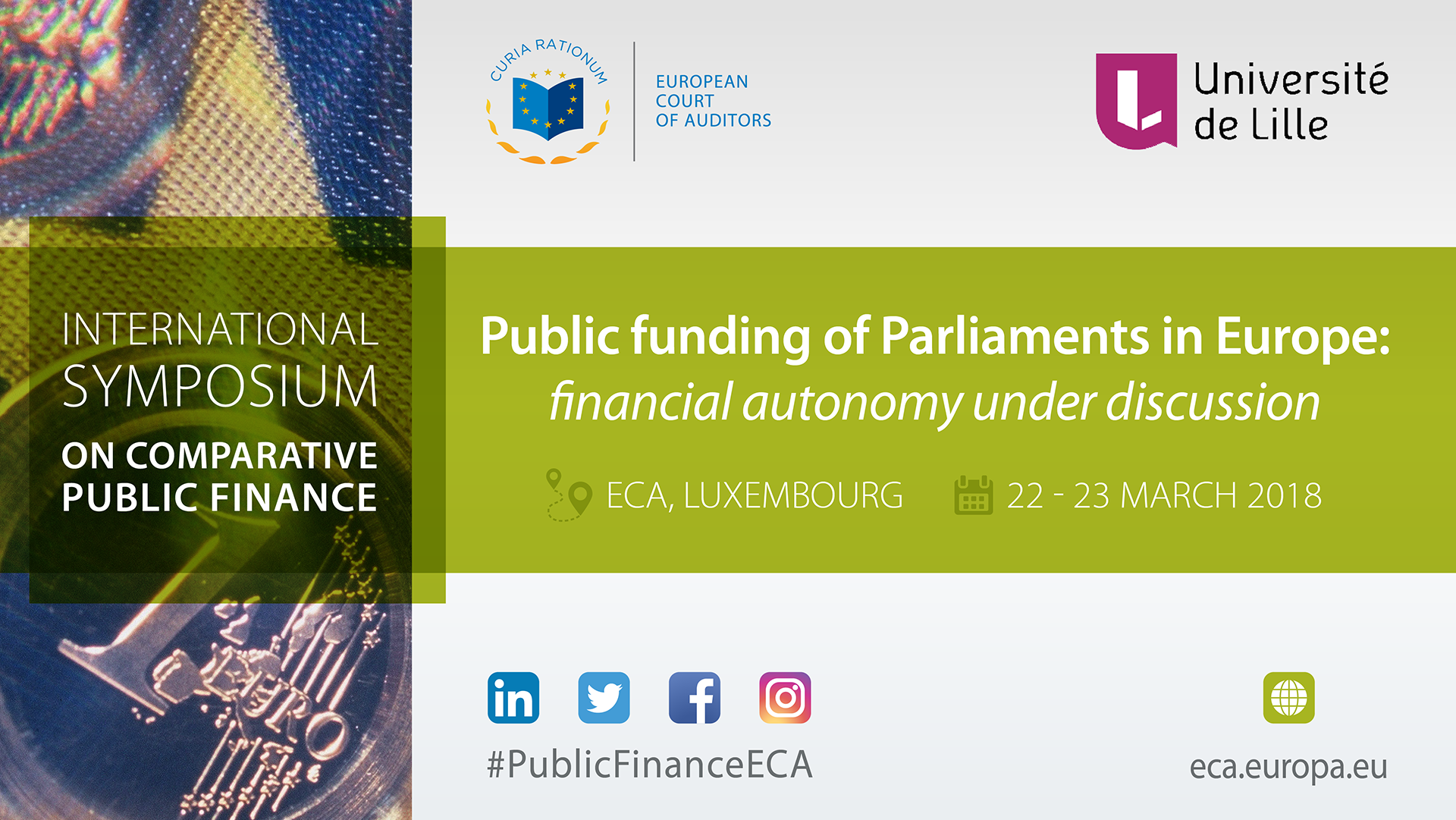 ECA hosts international symposium on public funding of parliaments in Europe: financial autonomy under discussion — 22-23 March 2018, Luxembourg