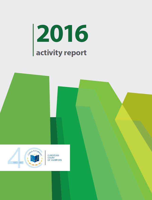 Relazione di attività della Corte dei conti europea sull'esercizio 2016: resoconto delle attività e degli aspetti gestionali, compresi il lavoro di audit sul bilancio dell'UE, l'impiego delle risorse e l'obbligo di rendiconto.
