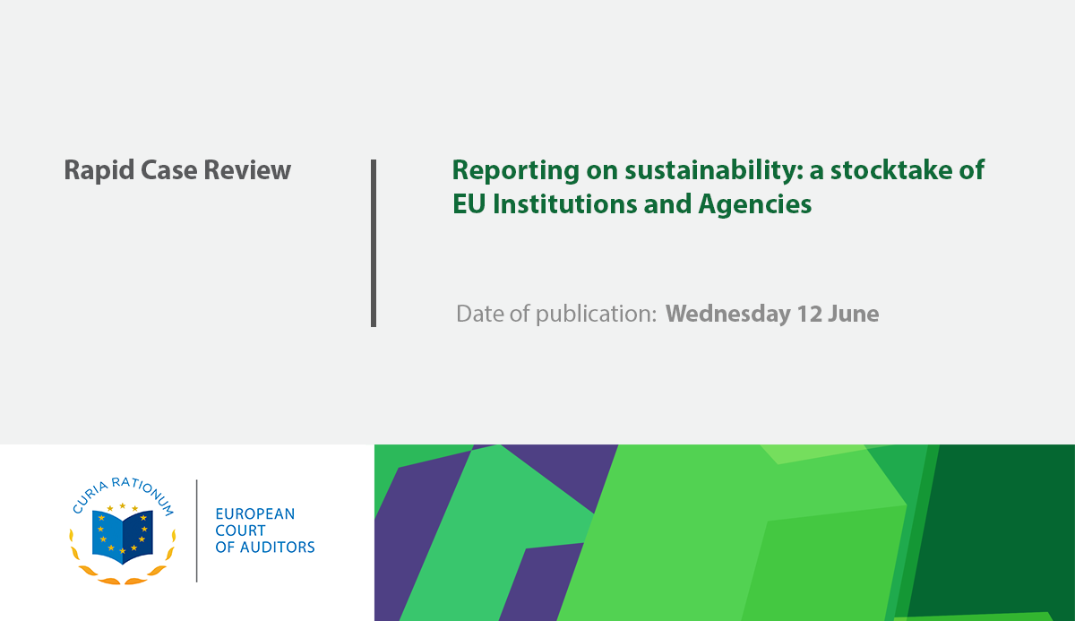 Review No 07/2019: Reporting on sustainability - A stocktake of EU Institutions and Agencies (Rapid case review)