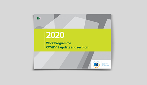 2020 Work Programme - COVID-19 update and revision